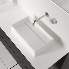 Plano 50 - 50x30, Massiv Matt White SolidTec®