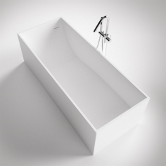 Frozen Tub 180 - 180x76, Massiv Matt White SolidTec®