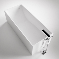 Frozen Tub 170 - 170x72, Massiv Matt White SolidTec®