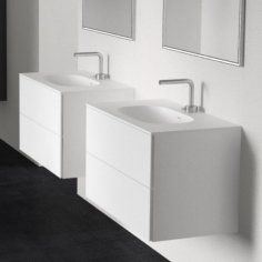 Block II Soft 80 - Matt White m/massiv SolidTec® vask