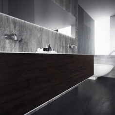 Copenhagen Chic 210D - Corian®, Smoked Black Oak