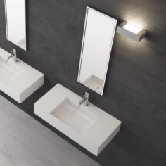 Contract 80C - 80x40, Massiv Matt White SolidTec®