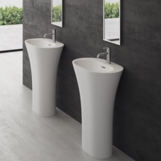 White Bucatini - 90hx63x42, Massiv Matt White SolidTec®