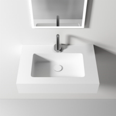 Waterproof 60 - 60x40, Massiv Matt White SolidTec®