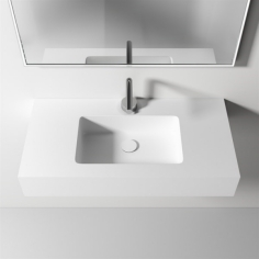 Waterproof 80 - 80x40 Massiv Matt White SolidTec®
