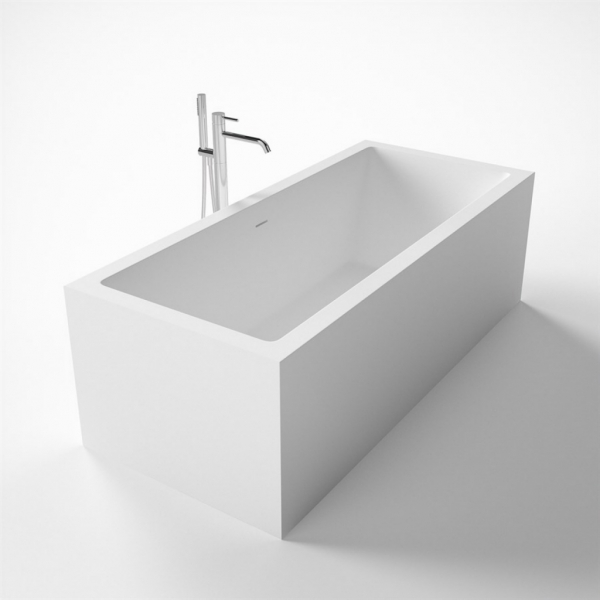 Exline V 183 - 183x80, Massiv Solid Surface, Matt White SolidTec®
