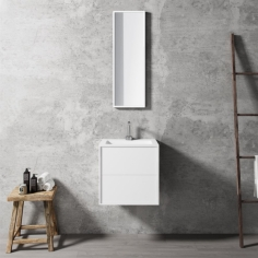 Compact 2 Waterproof 50X40 - Massiv Matt White SolidTec®