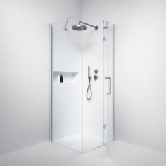 High Line H80WDR - 8 mm, 80x80x200h, Easy Clean